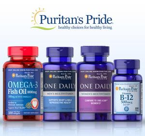 {Puritan's Pride:精选鱼油、辅酶、叶黄素等保健品特卖