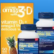 {GNC :Fish Oil、Multivitamins等更多保健品特惠