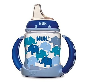 {Amazon.com:NUK Fashion Elephants 宝宝鸭嘴学饮杯--蓝色小象