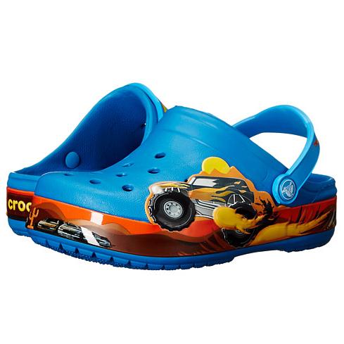 {6pm:Crocs洞洞鞋蓝色monster truck款